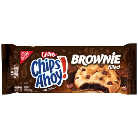 (2 Pack) Nabisco Chewy Chips Ahoy! Brownie Filled Soft Cookies, 9.5