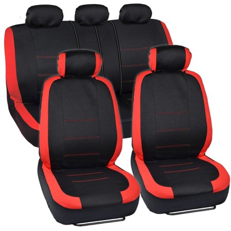 Venice Series Red Car Seat Covers Side Air Bag - Seat Slate