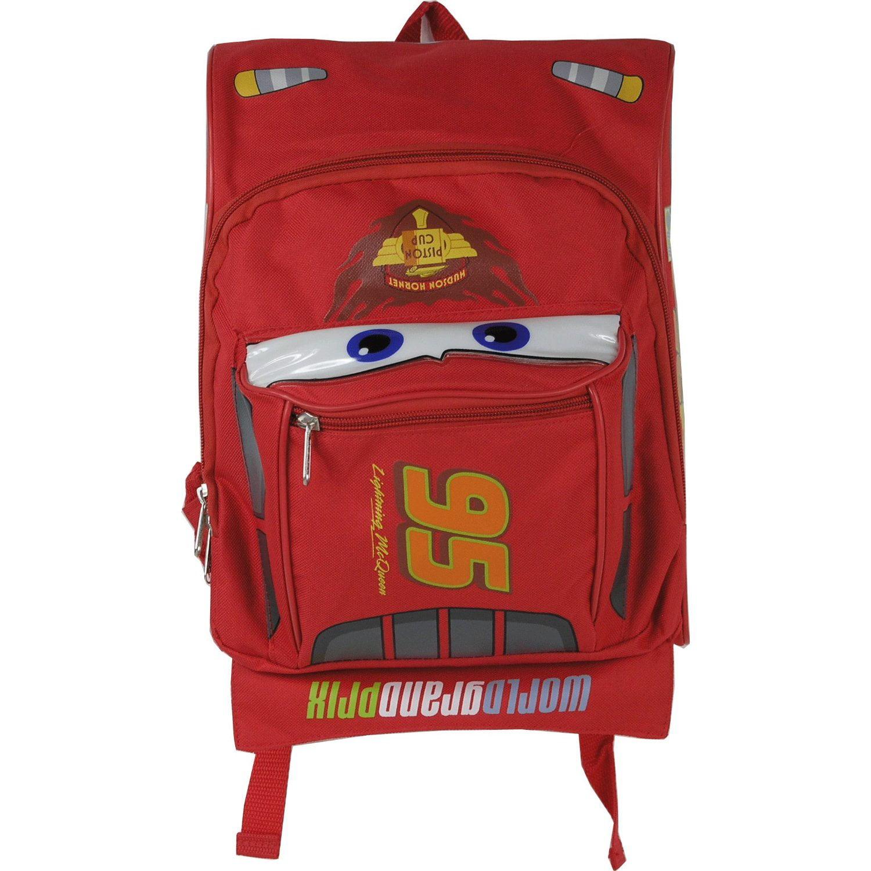 "Mini Backpack - Disney - Cars 2 - Lightning Mcqueen 10"" New School Bag 603687"
