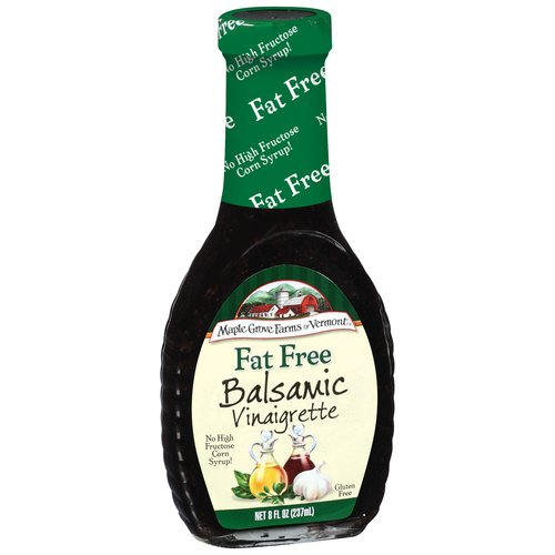 Maple Grove Farms Fat Free Balsamic Vinaigrette Dressing, 8 fl oz