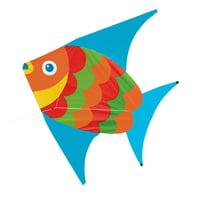 Melissa & Doug Flying Fish Single Line Shaped Kite (55-Inch Wingspan)
