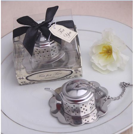 Small Teapot Tea Strainer Stainless Steel Tool Wedding Party Gift Souvenirs](Wedding Souvenirs)