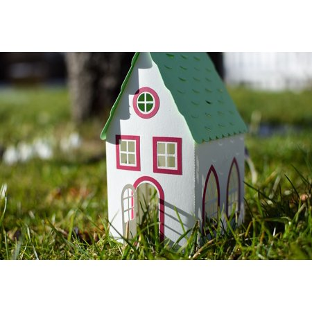 LAMINATED POSTER Paper House Model Toy Cottage Poster Print 24 x 36