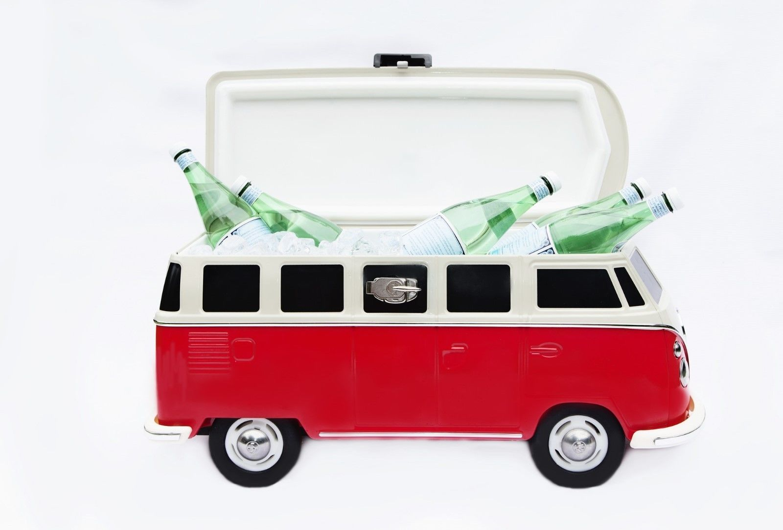 55e190e4c46 The Monster Factory VW Camper Van Cool Box Cooler Stainless Steel Rolling  Ice chest Indoor & Outdoor