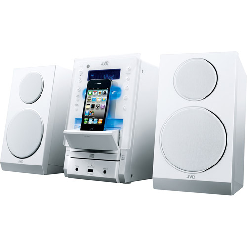 JVC UXLP55W Mini System for iPod/iPhone, White