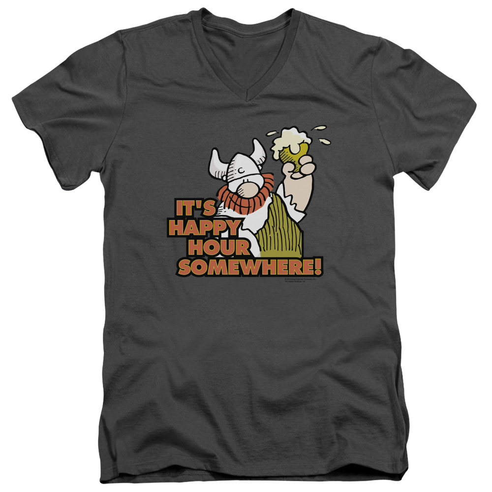 Hagar The Horrible Happy Hour Mens V-Neck Shirt