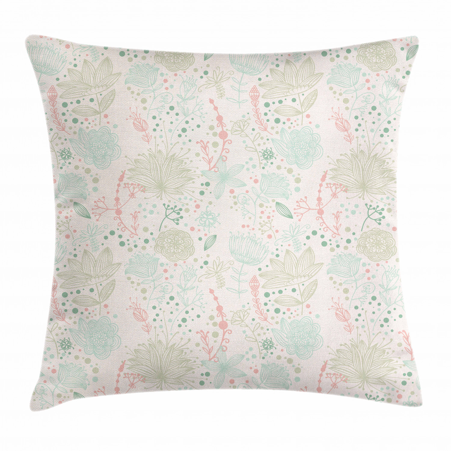 Nursing Pillow Cover Coral Dot Flowers
