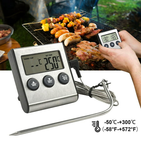 Image of Digital Cooking Meat Thermometer - BBQ Meat Thermometer - Meat Thermometer for Grilling - Meat Thermometer Oven Safe