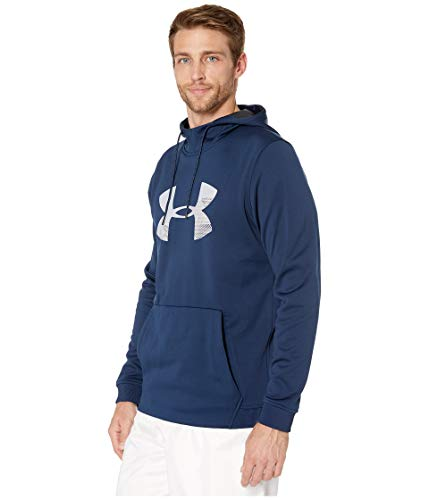 Under Armour Mens Armour Fleece Pullover Hoodie Big Logo Graphic