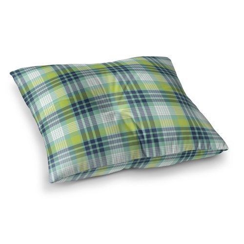 August Grove Truxton Plaid Floor Pillow