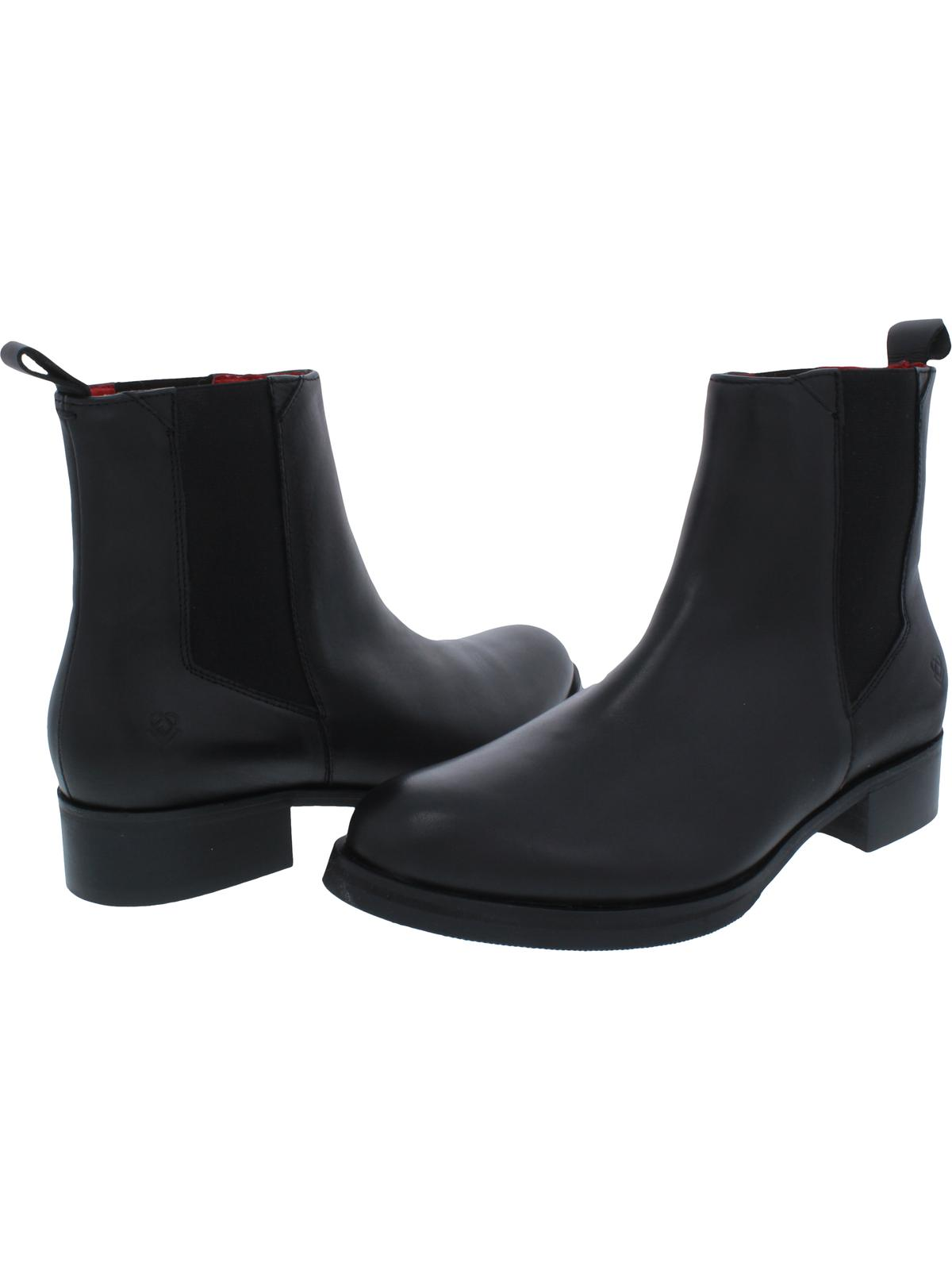 Liebeskind Berlin Womens Round Toe Ankle Chelsea Boots Black 37 Medium (B,M)