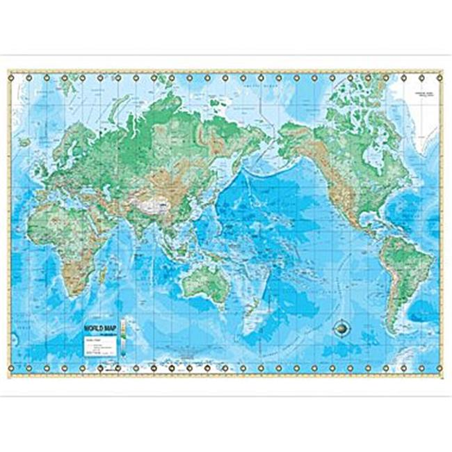 Universal Map 16168 World Advanced Physical Mounted