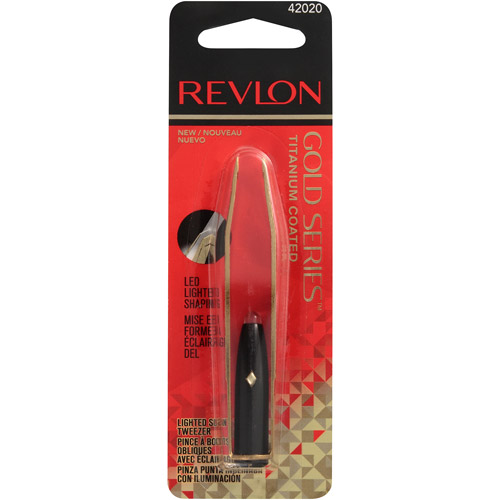 Revlon Gold Series Titanium Coated Lighted Slant Tweezers