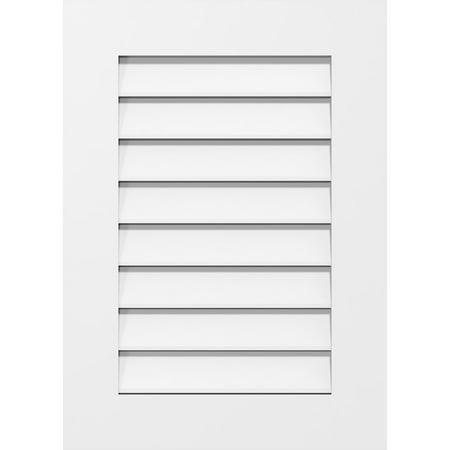 22 W x 36 H Vertical Surface Mount PVC Gable Vent Functional w 3 1 2