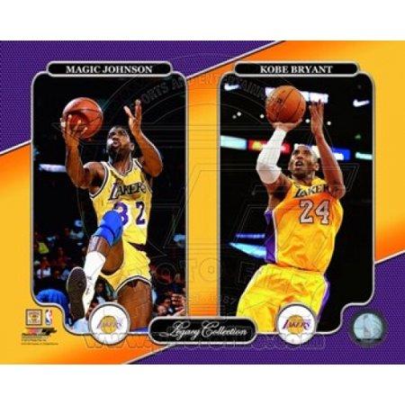 Magic Johnson & Kobe Bryant Legacy Collection Photo Print (11 x