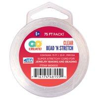 Toner Plastics Bead 'N Stretch 75' Clear Cord