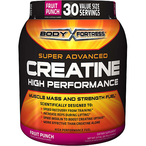 Body Fortress Super Advanced Creatine Drink Mix, Fruit Punch, 3.17 LB