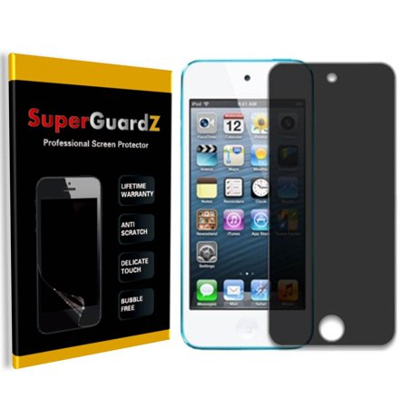 [2-PACK] For iPod Touch 6 (6th Generation) / 5 (5th Generation) - SuperGuardZ Privacy Anti-Spy Screen Protector, Anti-Scratch, Anti-Bubble, Anti-Fingerprint (Ipod 5 Privacy Screen Protector)