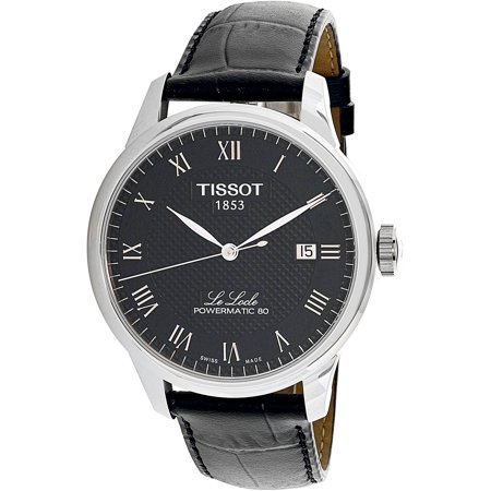 Date Swiss Automatic Watch - Men's Le Locle T006.407.16.053.00 Silver Leather Swiss Automatic Dress Watch