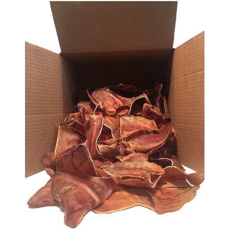 Half Pig Ears Chews from 123 Treats | 50 Count | Health Pork Ear for dogs | 100% Natural USDA Approved Chews