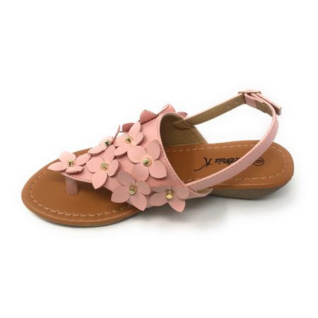 Victoria K Women's Daisy And Studs Wedge Sandals