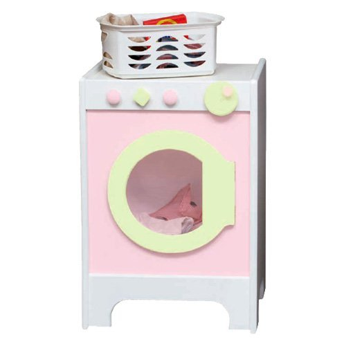 Little Colorado Kids Play Washer & Dryer - White with Soft Pink/Pastel Green