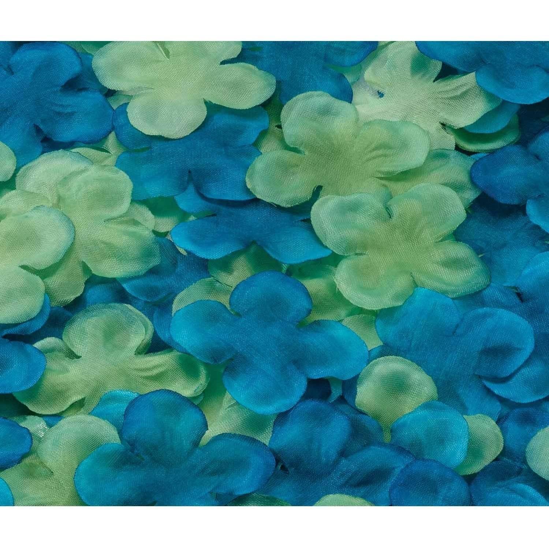Flower Petals, Blue/Green