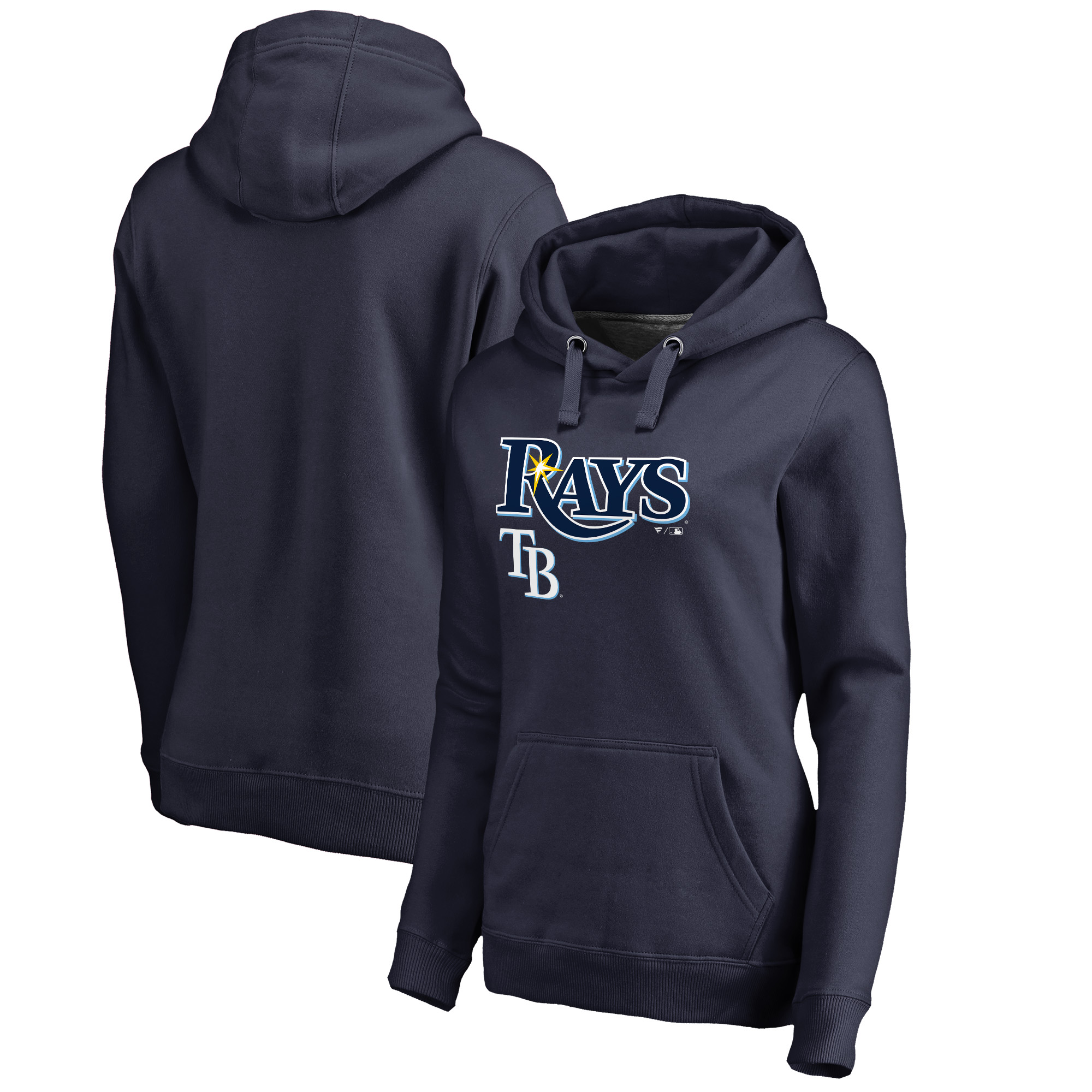 Tampa Bay Rays Fanatics Branded Women's Team Lockup Pullover Hoodie - Navy