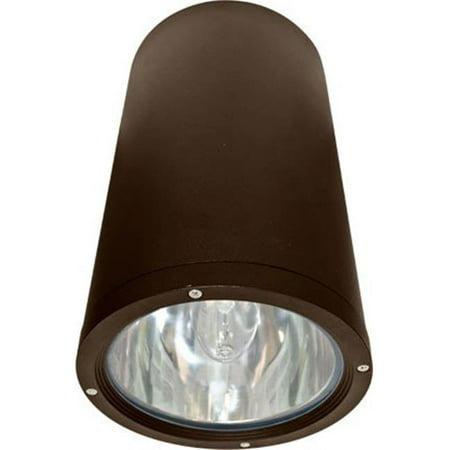 Dabmar Lighting DW3760-BZ Powder Coated Cast Aluminum Cylinder Ceiling Fixture, Bronze - 13.81 x 8.06 x 8.06 in.
