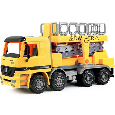Click N' Play Friction Powered Scaffold Bucket Lift Construction Toy Vehicle for - Construction Toys For Kids