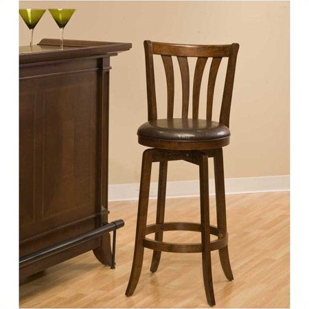 """Hawthorne Collections 30"""" Swivel Bar Stool in Cherry - image 1 of 1"""