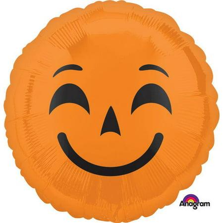 HALLOWEEN PUMPKIN EMOJI FOIL BALLOON (100 Pics Halloween Emoji)