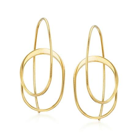 Ross-Simons 14kt Yellow Gold Spiral Hoop Earrings