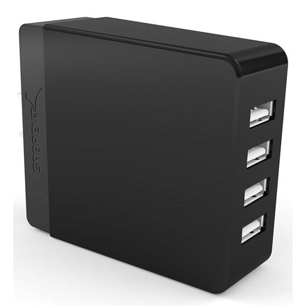 Sabrent 40 Watt/8 Amp 4-Port Rapid Smart USB Wall Charger AX-U4PB