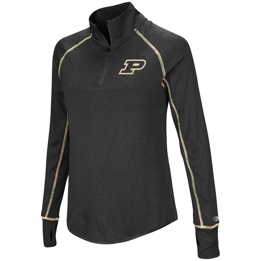 Womens Purdue Boilermakers Quarter Zip Pull-over Wind Shirt - S