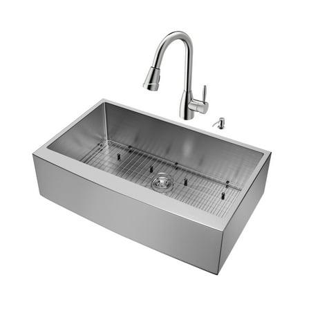 Apron Front Single Basin (Vigo VG15261 36