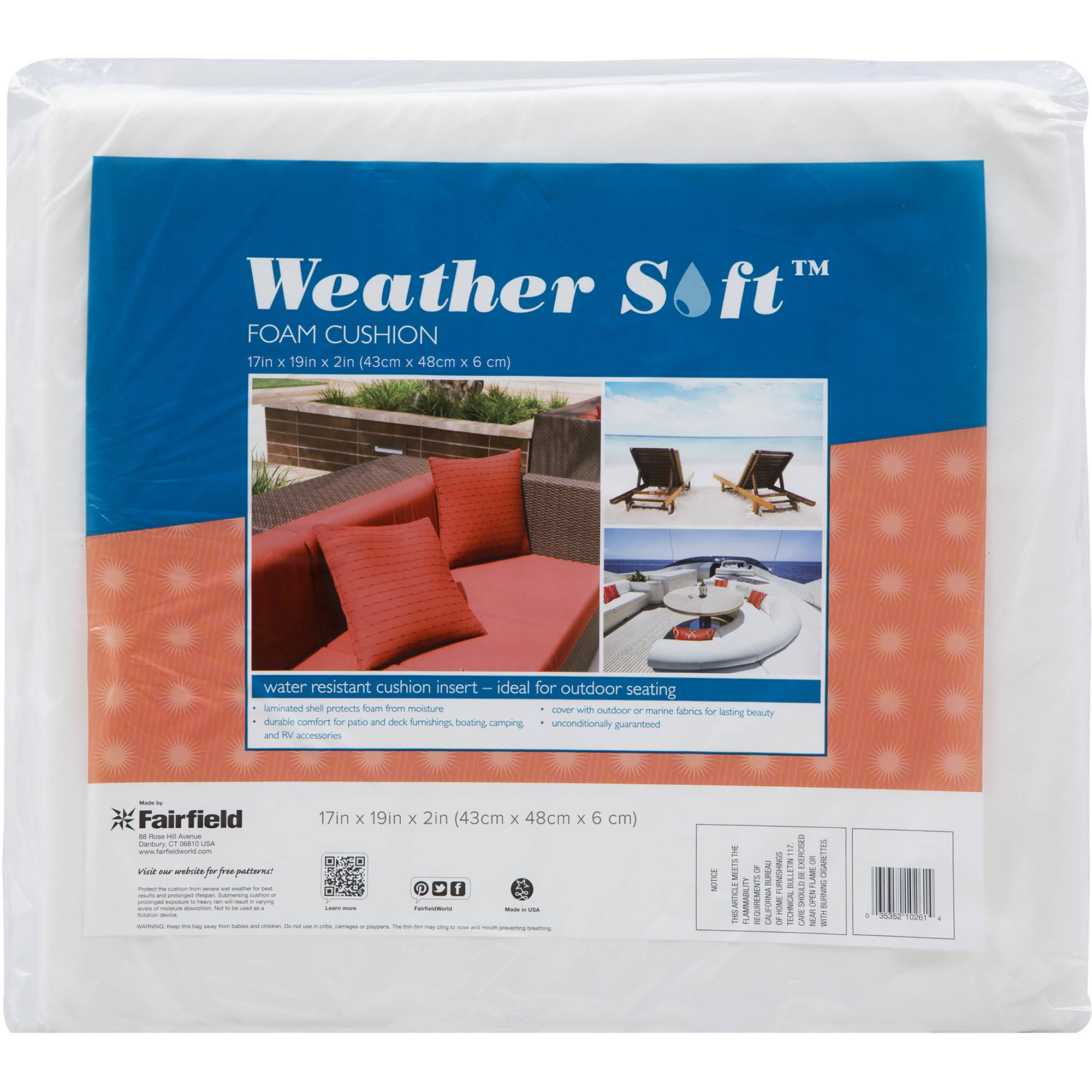 Weather Soft Foam Cushion