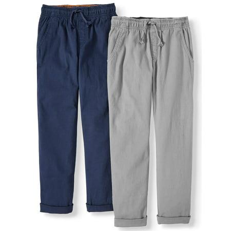 Wonder Nation Boys 4-18 & Husky Pull On Pants, 2-Pack Quicksilver Boys Pants