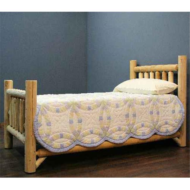 Lakeland Mills ALT38-V Cedar Low Post Twin Bed Vintage Whiskey by Lakeland Mills