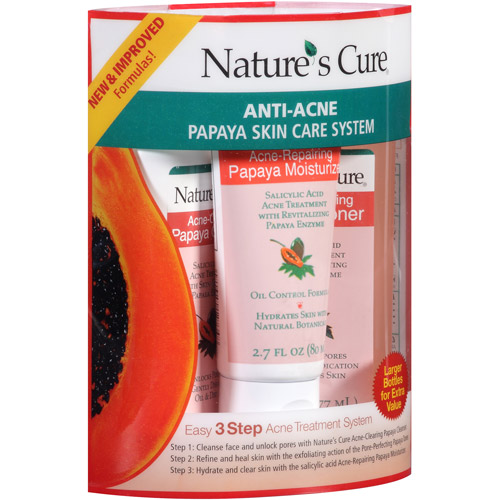 Nature's Cure Anti-Acne Papaya 3-Step Skin Care System