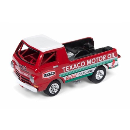 Dodge A-100 Pickup Truck, Red - Round 2 JLSP009/24 - 1/64 Scale Diecast Model Toy Car