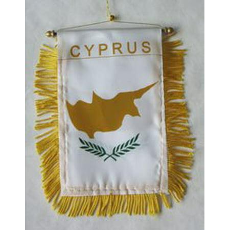 Cyprus Window Hanging Flag