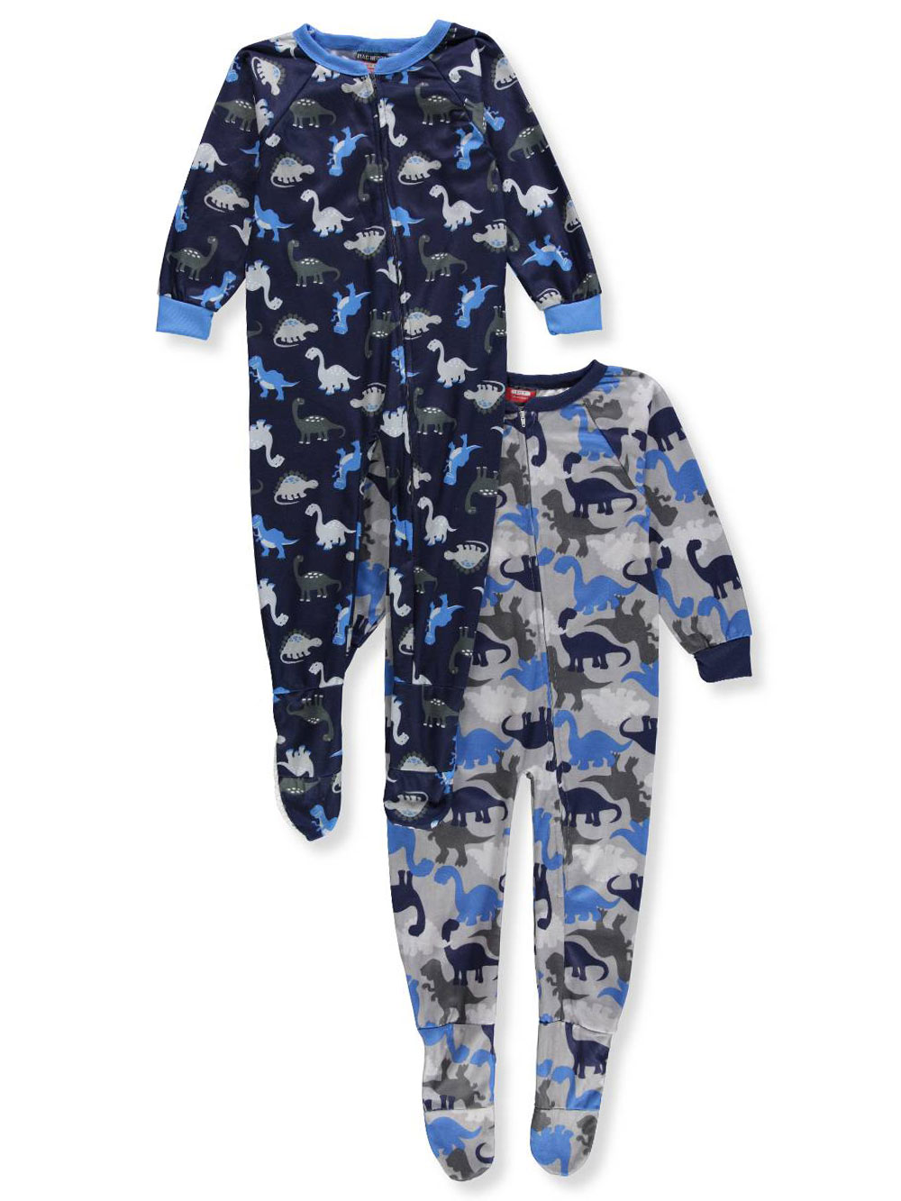 Mac Henry Boys' 2-Pack 1-Piece Footed Pajamas
