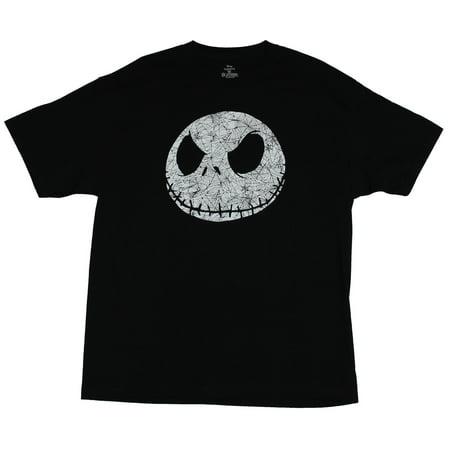 Jack Skellington Bat Bow Tie (Nightmare Before Christmas Mens T-Shirt -  Jack Skellington Web Filled)