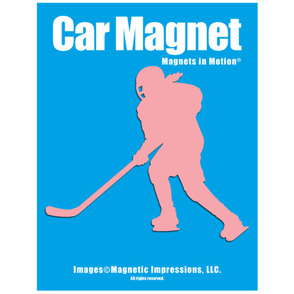 Ice Hockey Player Female Car Magnet by Magnetic Impressions