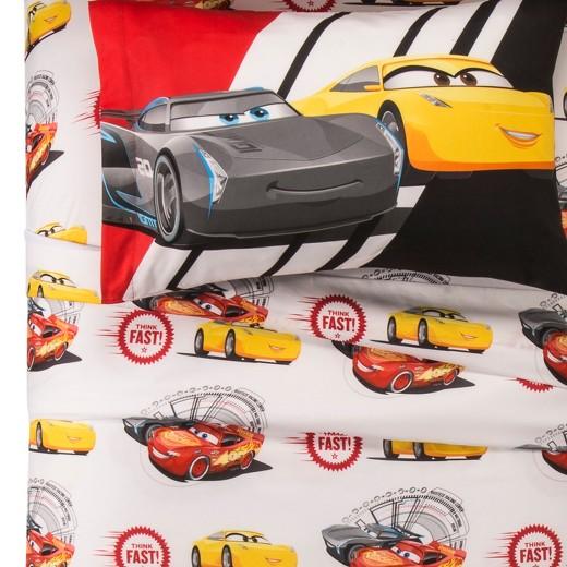 DISNEY PIXAR CARS LIGHTNING MCQUEEN TWIN SHEET SET