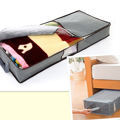 Micelec Zipped Clothes Duvet Clothing Pillow Under Bed Handle Storage Organizer Bag