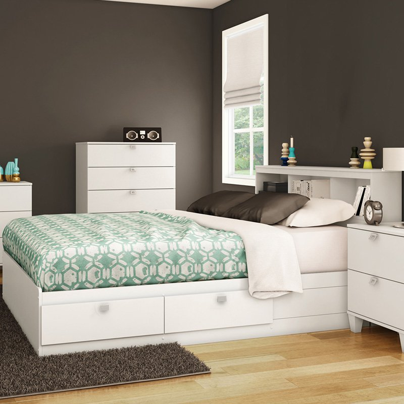 South Shore Karma Mates Bookcase Bed