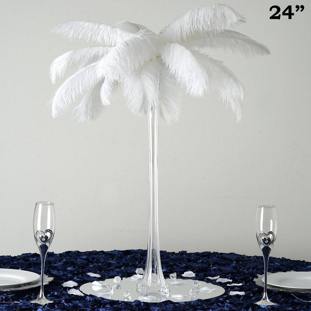 "BalsaCircle 12 pcs 24"" tall Wedding Centerpiece Eiffel Tower Vases - Wedding Party Centerpieces Wholesale Home Decorations"