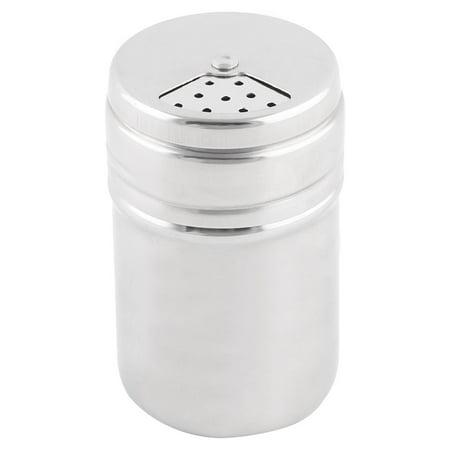 Unique Bargains 3.2 Inch High Stainless Steel Spice Salt Pepper Shaker Condiment Cruet Bottle ()